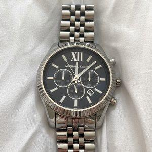 Michael Kors Lexington Chronograph Navy Dial Watch